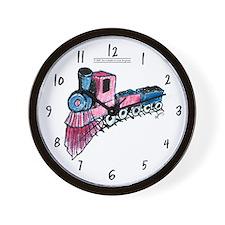Patriotic I Can Train Wall Clock