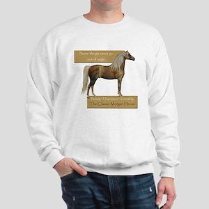 Classic Morgans gray or white sweatshirt