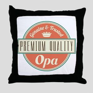 Vintage Opa Throw Pillow