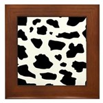 Cow pattern Framed Tile