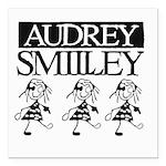 Audrey Smilley logo Square Car Magnet 3