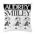Audrey Smilley logo Woven Throw Pillow