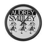 Audrey Smilley logo Large Wall Clock