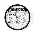 Audrey Smilley logo Wall Clock