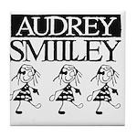 Audrey Smilley logo Tile Coaster