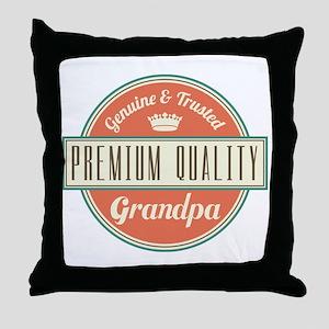 Vintage Grandpa Throw Pillow