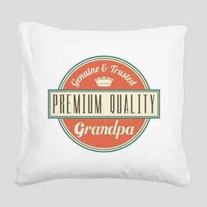 Vintage Grandpa Square Canvas Pillow