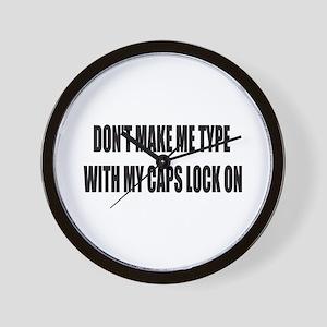 Caps lock on Wall Clock