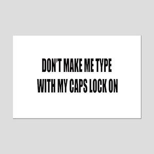 Caps lock on Mini Poster Print