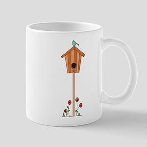 Birdhouse Flowers Mug