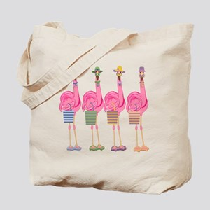 Snazzy Flamingos Tote Bag