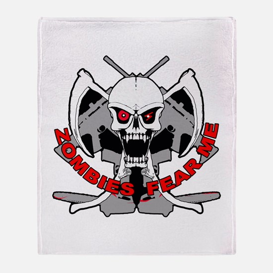 Zombies fear me Throw Blanket