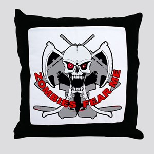 Zombies fear me Throw Pillow