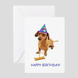 Dachshund Birthday Card Greeting