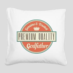 Vintage Godfather Square Canvas Pillow