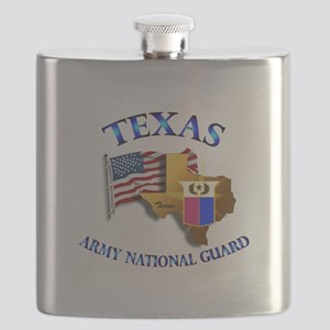 Army National Guard - TEXAS w Flag Flask