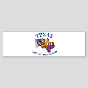 Army National Guard - TEXAS w Flag Sticker (Bumper