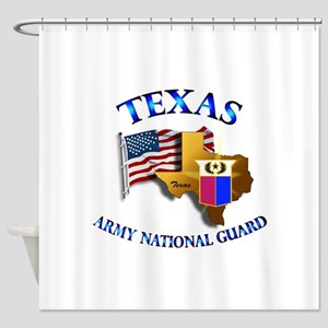 Army National Guard - TEXAS w Flag Shower Curtain