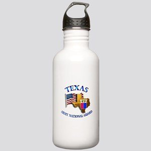 Army National Guard - TEXAS w Flag Stainless Water