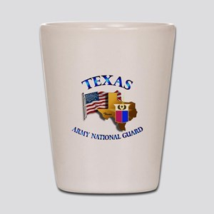 Army National Guard - TEXAS w Flag Shot Glass
