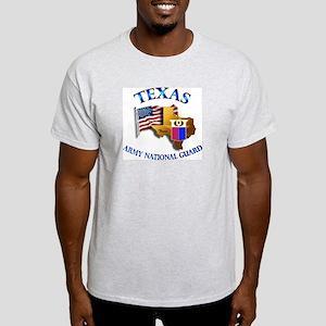Army National Guard - TEXAS w Flag Light T-Shirt