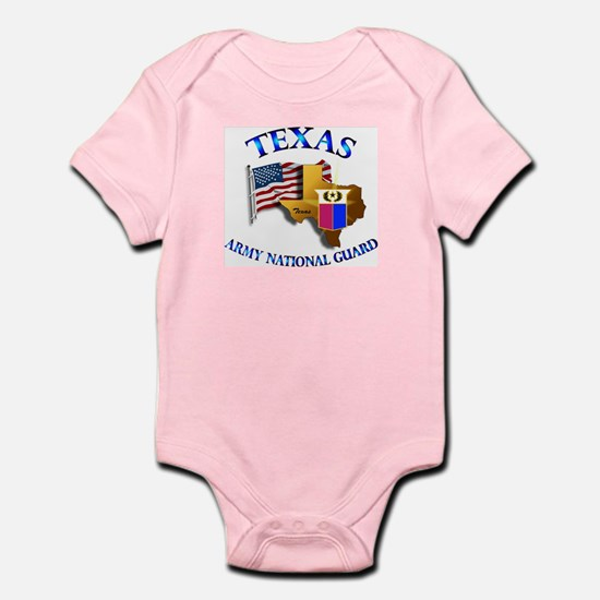 Army National Guard - TEXAS w Flag Infant Bodysuit