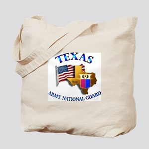 Army National Guard - TEXAS w Flag Tote Bag