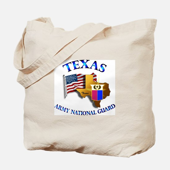 Army National Guard - TEXAS w Flag Tote Bag