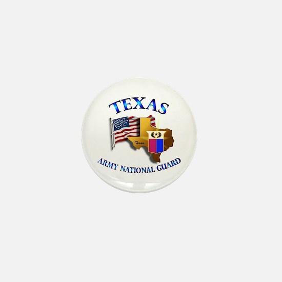 Army National Guard - TEXAS w Flag Mini Button