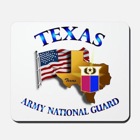 Army National Guard - TEXAS w Flag Mousepad