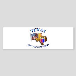 Army National Guard - TEXAS w Flag Sticker (Bumper