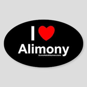 Alimony Sticker (Oval)