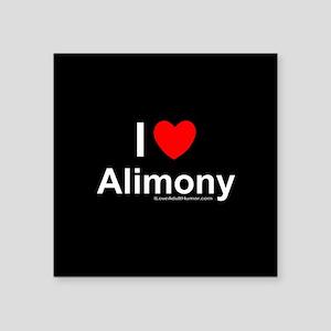 "Alimony Square Sticker 3"" x 3"""