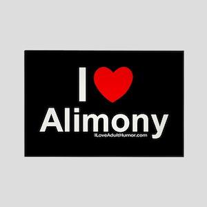 Alimony Rectangle Magnet