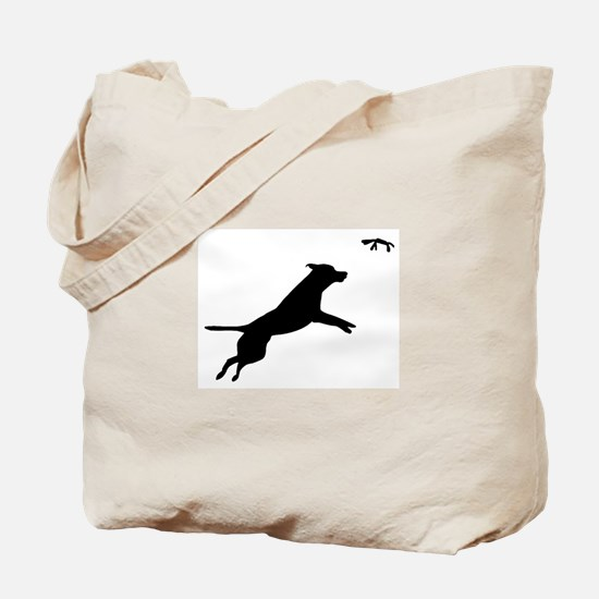 Dock Diving dog Tote Bag