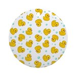 Rubber Duck Pattern Ornament (Round)