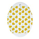 Rubber Duck Pattern Ornament (Oval)