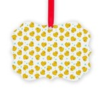 Rubber Duck Pattern Picture Ornament