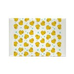 Rubber Duck Pattern Rectangle Magnet (10 pack)