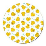 Rubber Duck Pattern Round Car Magnet