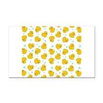 Rubber Duck Pattern Rectangle Car Magnet