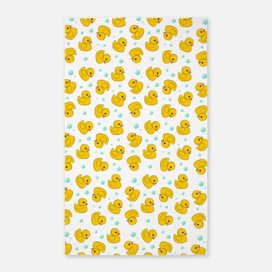Rubber Duck Pattern 3'x5' Area Rug