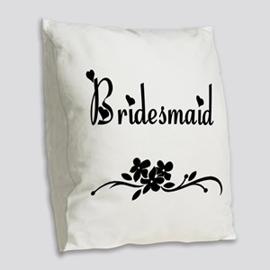 Classic Bridesmaids Burlap Throw Pillow