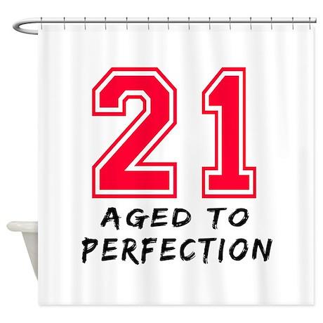 21 year birthday designs Shower Curtain