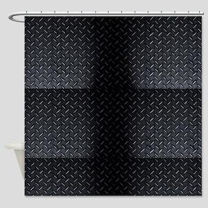 Black Diamond Plate Shower Curtain