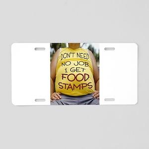 NO JOB Aluminum License Plate