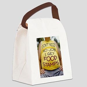 NO JOB Canvas Lunch Bag