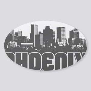 Phoenix Skyline Sticker (Oval)