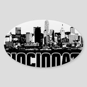 Cincinnati Skyline Sticker (Oval)