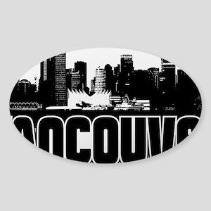 Vancouver Skyline Sticker (Oval)